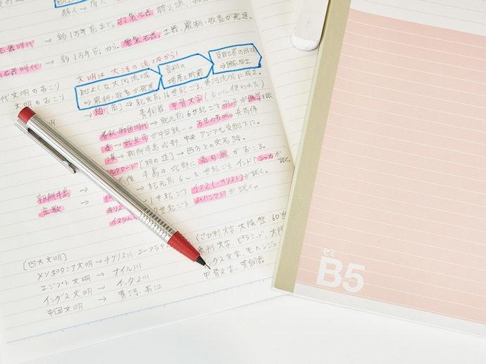 机上に広げても程よい大きさ。勉強用にはB5がおすすめ