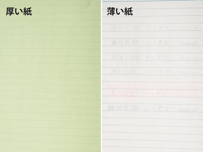【検証結果ハイライト】第一に紙の厚みが重要。さらに色付き用紙だと裏写りしにくい