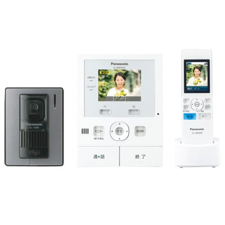 パナソニック ワイヤレス子機付 テレビドアホン 録画機能付 VL-SWD210Kの画像