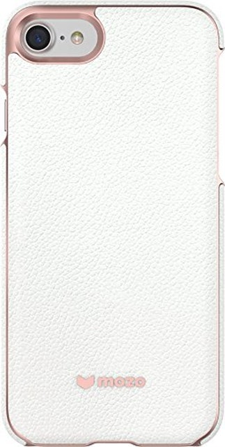 mozo iphone 7 back cover case white leather 1枚目