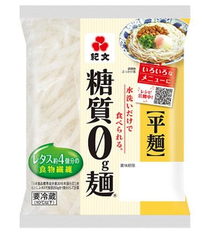 紀文 糖質0g麺 1枚目
