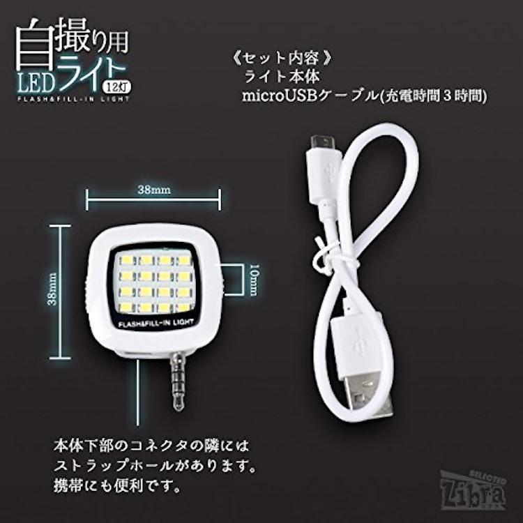 テレマティクス 自撮り 12灯LEDライト LBR-SLED12 1枚目