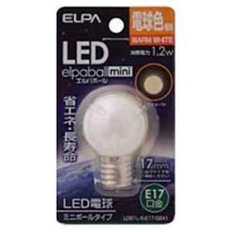 ELPA LED電球 ミニボール電球形 LDG1L-G-E17-G241の画像
