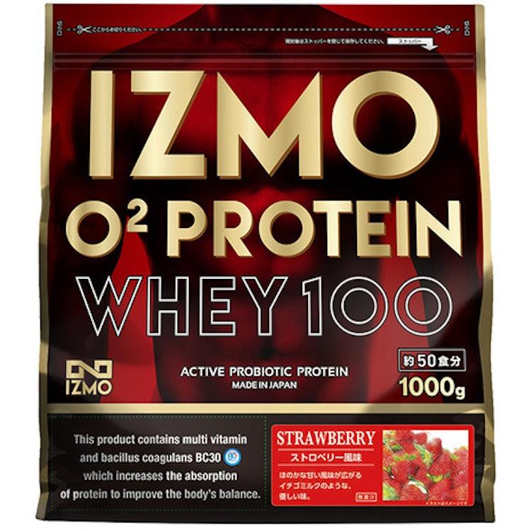 IZMO O2 プロテインホエイ100 ストロベリー風味  1枚目