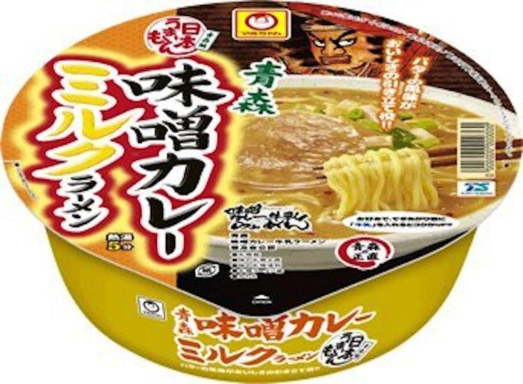 東洋水産 マルちゃん 日本うまいもん 青森味噌カレーミルクラーメン 12個 1枚目