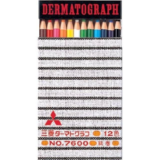 三菱鉛筆 uni 油性ダーマトグラフ 12色セット 1枚目