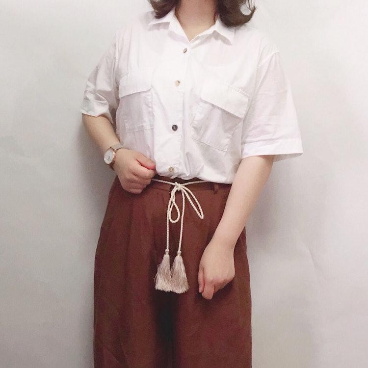 GU リネンブレンドワイドパンツSB 1枚目