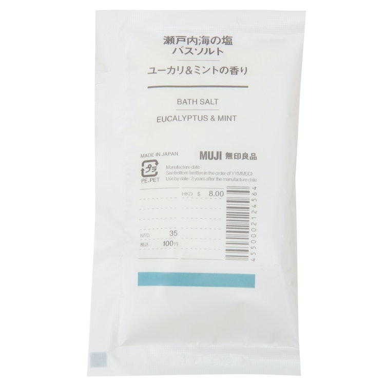 瀬戸内海の塩バスソルト・ユーカリ&ミントの香り(分包)の画像