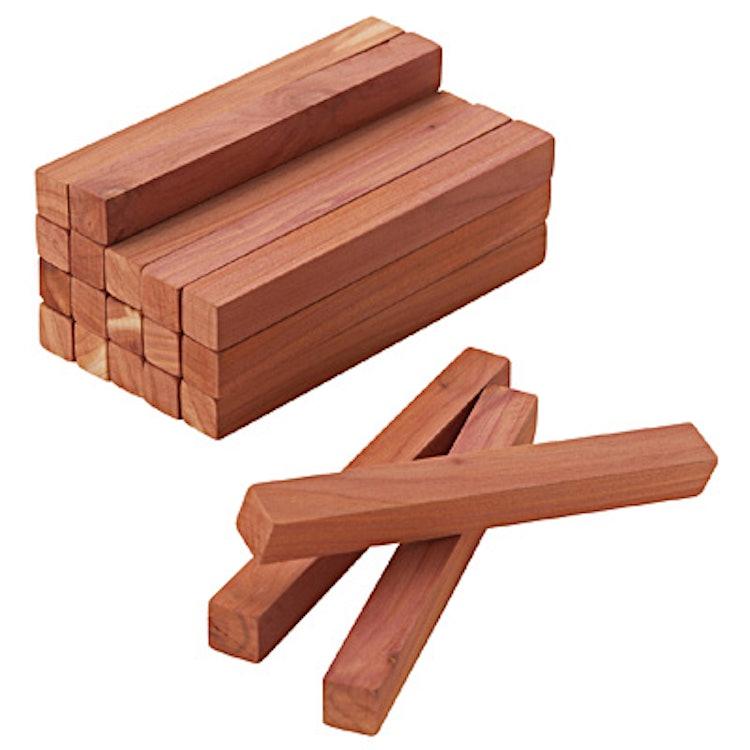 レッドシダーブロック・紙やすり付 20本入・約幅10×奥行1×高さ1cmの画像