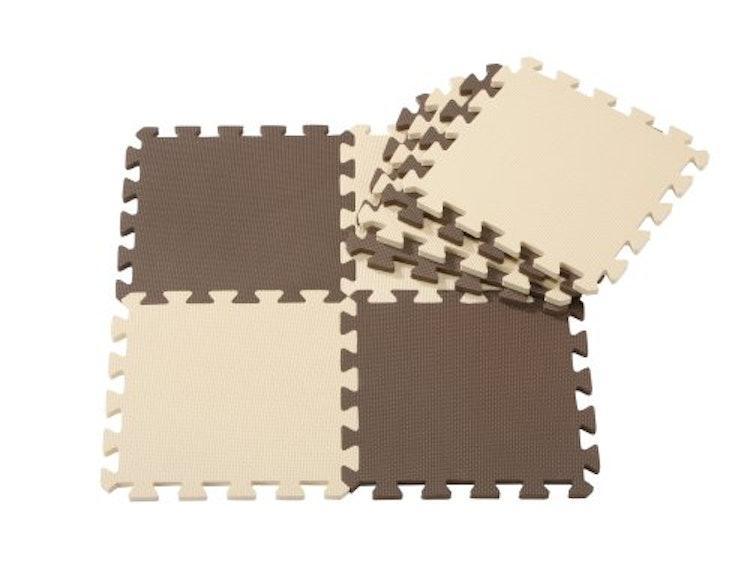 ジョイントマットシリーズ カラーマット 8枚組 チョコレートの画像