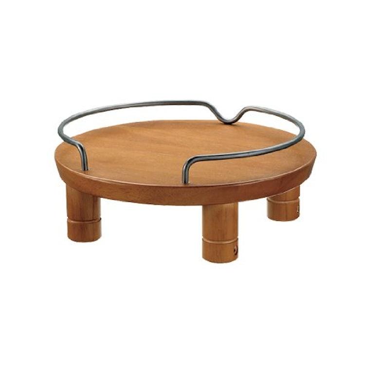 ペット用 木製テーブル シングル ブラウンの画像