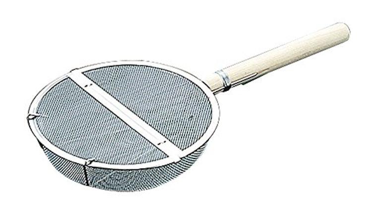 ステンレス木柄 丸型ギンナン煎りの画像