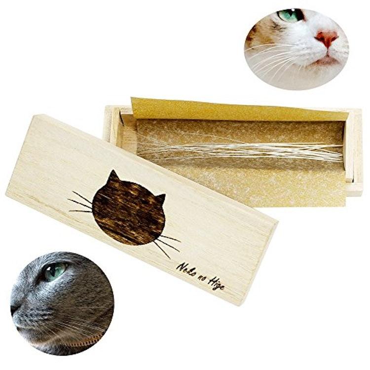 ビーグラッドストア 猫専用 桐製猫のひげケース 1枚目