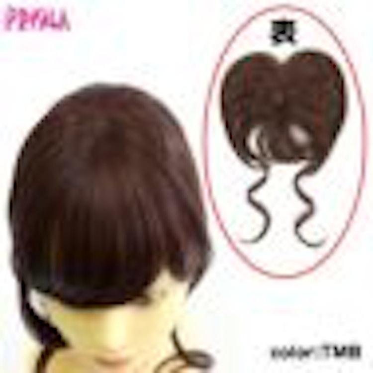 プリシラ ふんわり手植えつむじあり前髪ウィッグ ふんわりサイドカールバング 耐熱 2枚目のサムネイル
