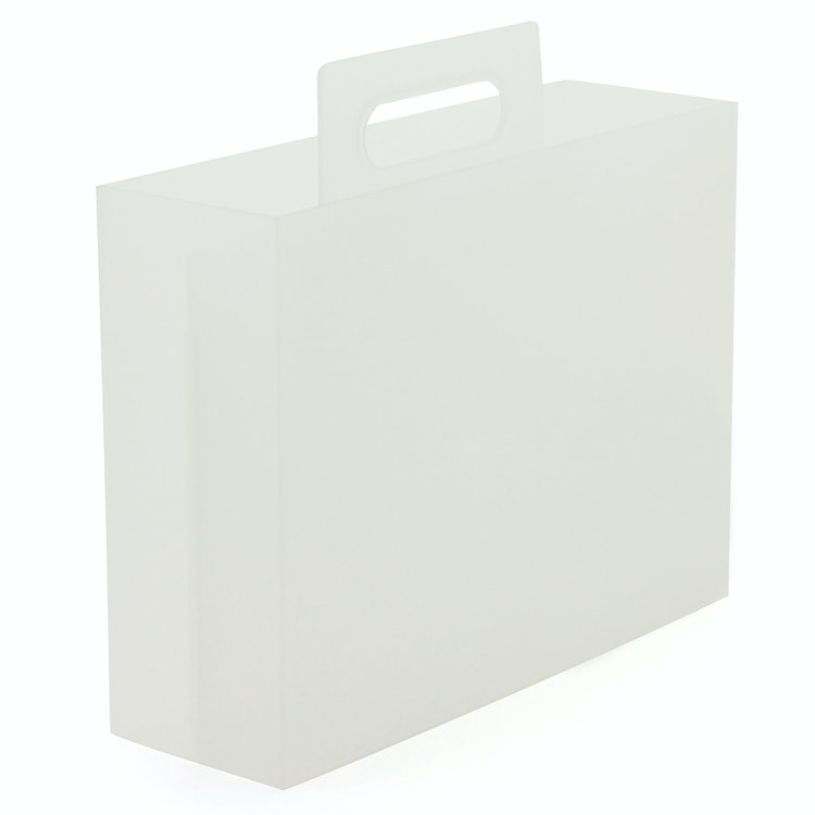 無印良品  ポリプロピレン持ち手付きファイルボックス 1枚目