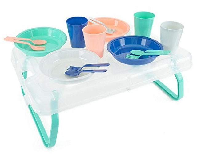 ガーデンパーティー 折りたたみテーブル食器セット 1枚目
