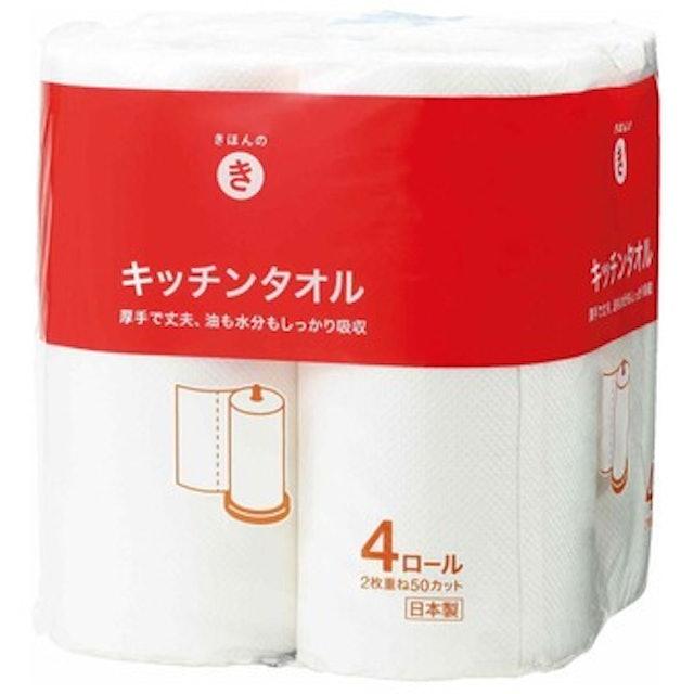 西友  きほんのき キッチンタオル 4ロール入 1枚目