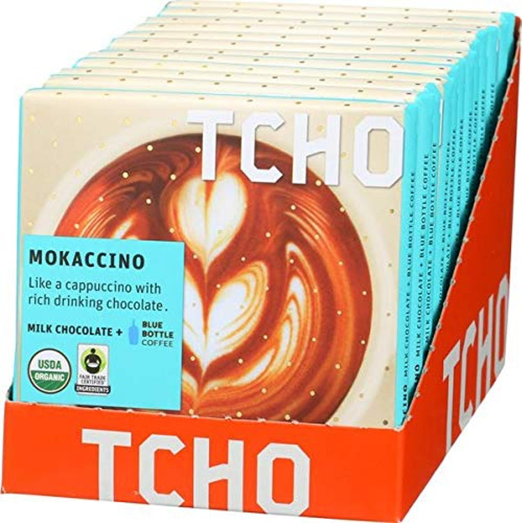 "TCHO CHOCOLATE Milk Chocolate""Mokaccino"" + Blue Bottle Coffee 12個セット 1枚目"