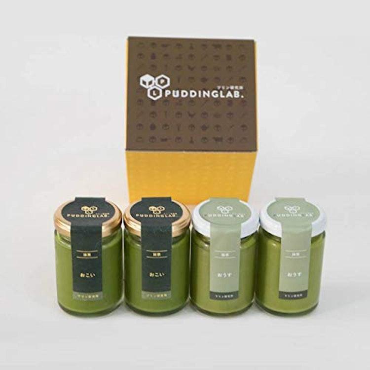 プリン研究所 抹茶プリン2種食べ比べセット 4個入り 1枚目