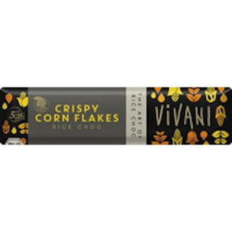 オーサワジャパン ViVANI オーガニックライスミルクチョコレートバー コーンフレーク 1枚目