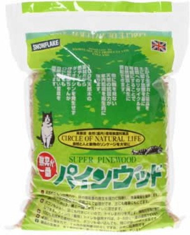 スノーフレイク・ペット・プロダクト 猫砂 パインウッド 4袋セット 1枚目