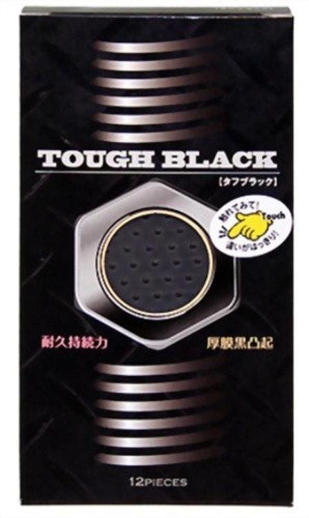 ジャパンメディカル タフブラック 厚膜黒凸起コンドーム 1枚目
