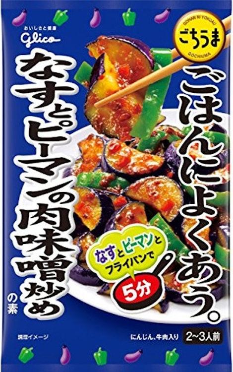 江崎グリコ ごはんによくあう ごちうま なすとピーマンの肉味噌炒めの素 1枚目