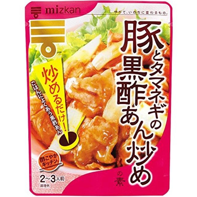 ミツカン 酢こやかキッチン 豚とタマネギの黒酢あん炒めの素 1枚目
