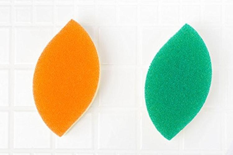 亀の子 食器洗い スポンジ 木の葉型 3個セット 1枚目