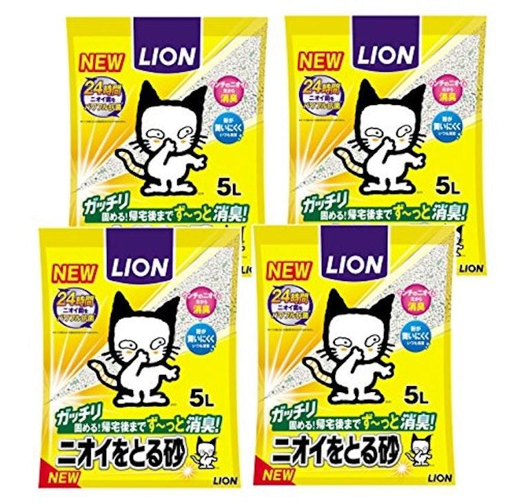 LION ニオイをとる砂 5L×4袋 1枚目