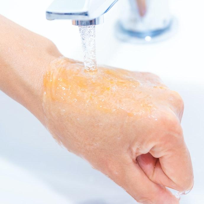 湿疹もニキビもできない。ただしゲルのすすぎ残しには注意したほうがいいかも?