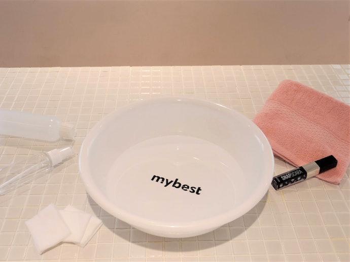 お湯だけで、すっきりキレイに洗い落とせる!