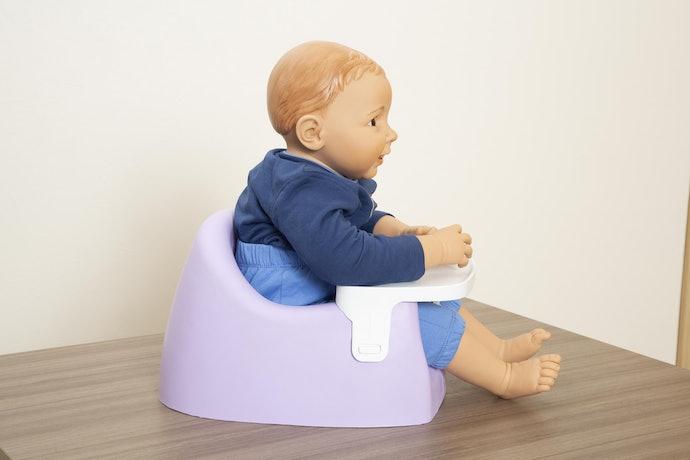口コミ①:赤ちゃんとチェアのサイズが合わない…