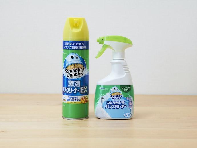 お風呂場の白い頑固な汚れ、石鹸カスを99.9%除去!