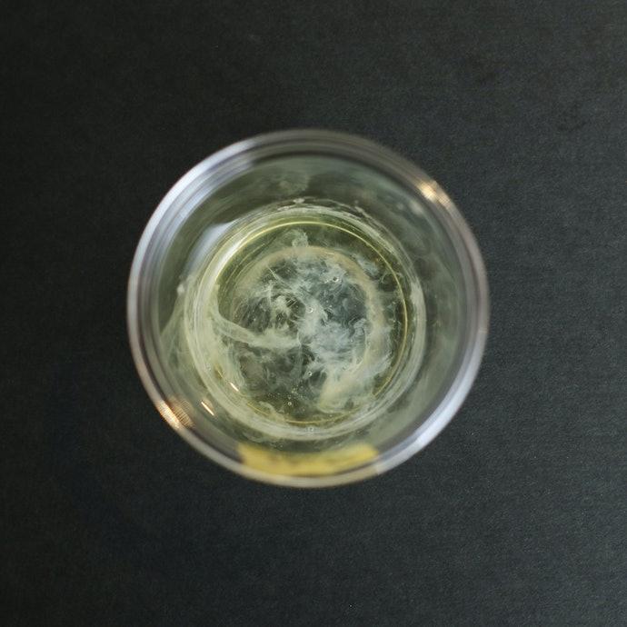 マイルドなボディソープ。卵白はやや濁る結果に