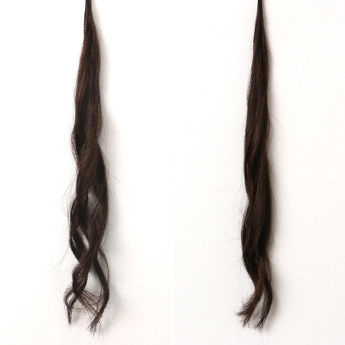 ボリュームダウンは否めないけれど、まだ巻き髪といえるレベル