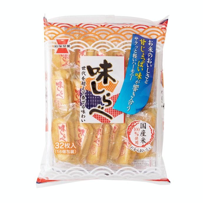【レビュー結果】売れ筋のせんべい43商品中33位。好みが分かれる甘めの味付け。粉っぽさが気になる