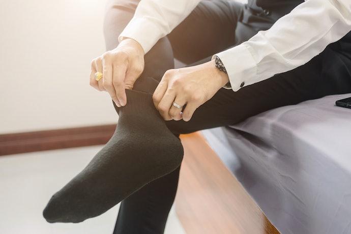 口コミ①:靴下が短いとバレやすい