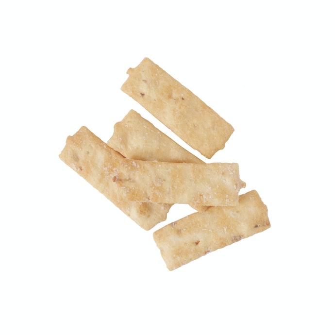 噛みごたえのよさと小袋包装で食べ過ぎを防ぐ