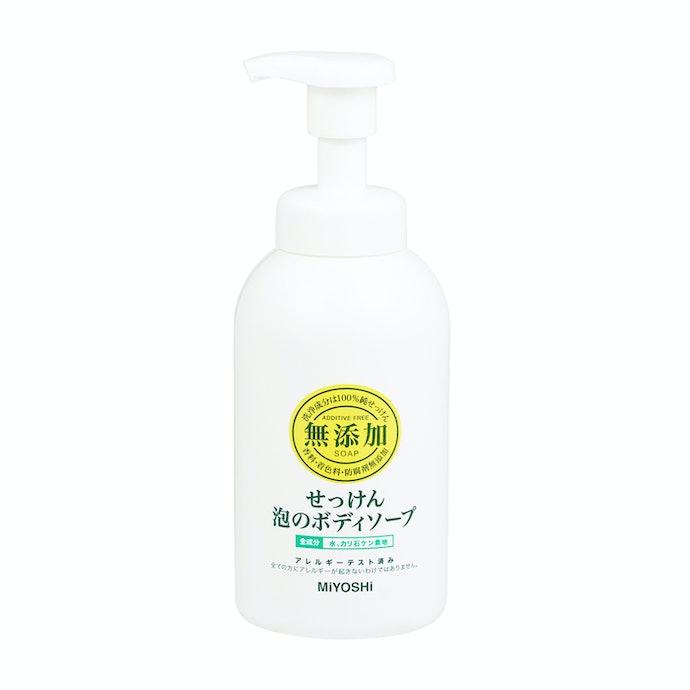 シンプルな石鹸成分だけで作られているから低刺激