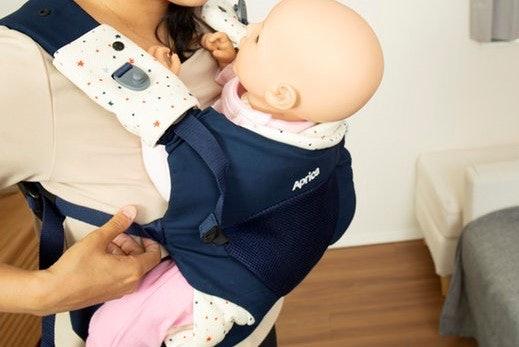 アップリカ コアラなら3ステップで赤ちゃんを抱っこできる!