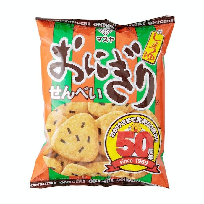 【レビュー結果】人気のせんべい43商品中18位。かわいいおにぎり形!甘じょっぱさ・ソフト食感で食べやすい