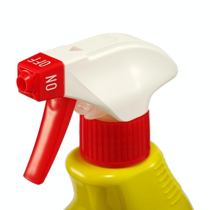 逆さにしても使えるスプレーボトルを採用