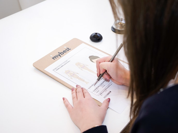 アンケート用紙を記入したら、担当スタッフによるカウンセリング開始