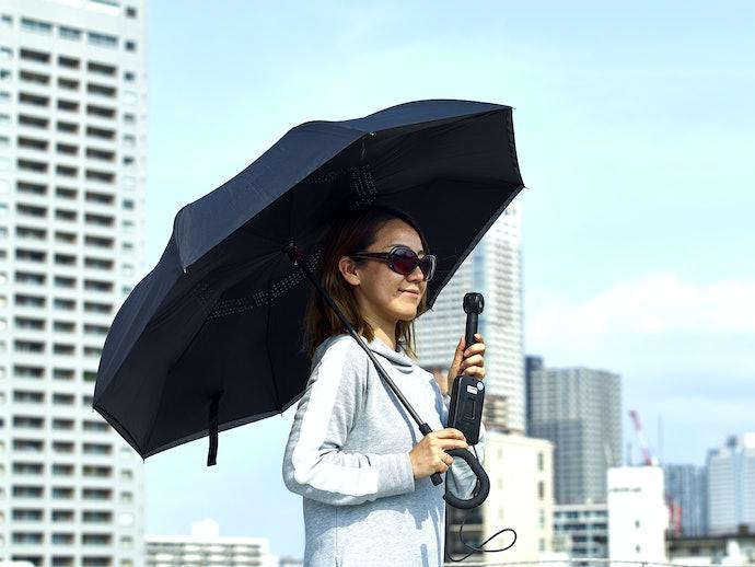 口コミ①:日傘としては大きく悪目立ちする