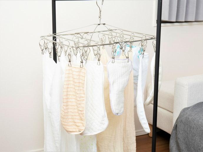 部屋干しでも3時間でほぼ乾く。綿100%の布おむつでは平均的