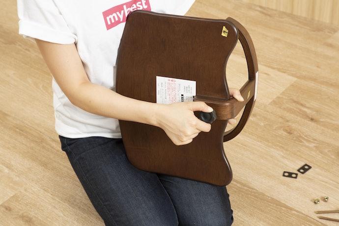 工具無しでパーツの取り外しが可能!普通の椅子としても使える