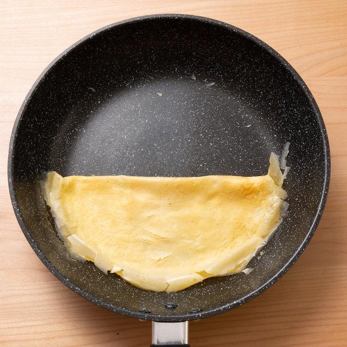 スチールウールで擦ったあとでも卵は全くくっつかない