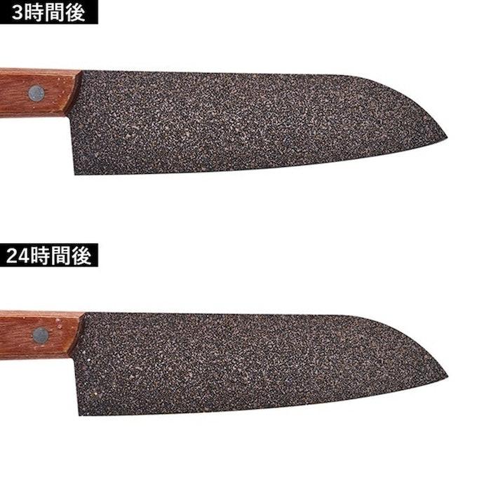 短時間で食材に触れる刃先が錆びる。使用後すぐのお手入れはマスト!