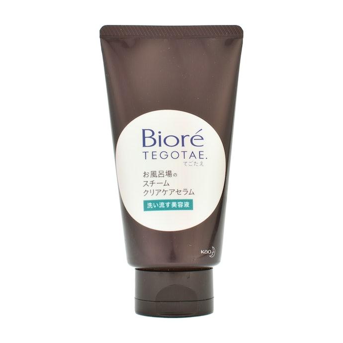洗顔感覚で簡単スキンケア。ビオレTEGOTAE お風呂場のスチームクリアケアセラムとは?